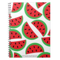Watermelon pattern spiral notebook