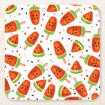 Watermelon pattern square paper coaster