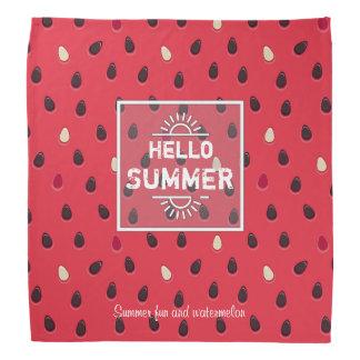 Watermelon Pattern, Summer Time | Personalized Bandana