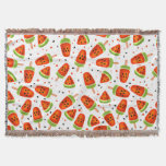 Watermelon pattern throw blanket