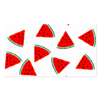 Watermelon Pattern Triangles Business Card