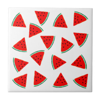 Watermelon Pattern Triangles Ceramic Tile
