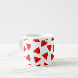 Watermelon Pattern Triangles Espresso Cup