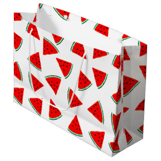 Watermelon Pattern Triangles Large Gift Bag