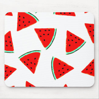 Watermelon Pattern Triangles Mouse Pad