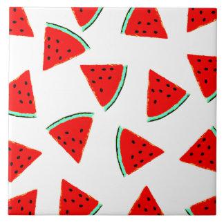 Watermelon Pattern Triangles Tile