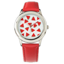 Watermelon Pattern Triangles Wrist Watch