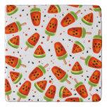 Watermelon pattern trivet