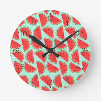 Watermelon Pattern - Wall Clock With Numbers