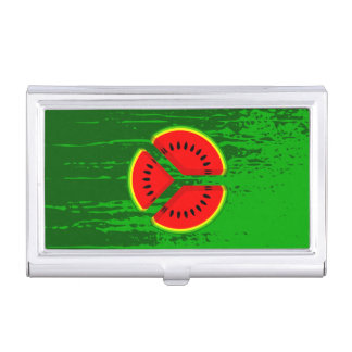 Watermelon Peace Symbol Case For Business Cards