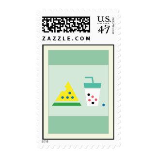 Watermelon + Pearl milk tea Postage Stamp