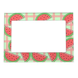 watermelon photo frame magnet