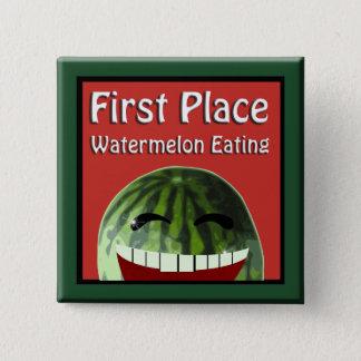 Watermelon Picnic 1st  Place Watermelon Eating Pinback Button