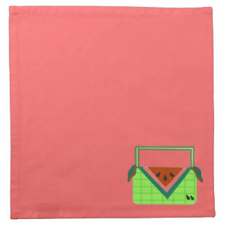 Watermelon Picnic Basket Cloth Napkin