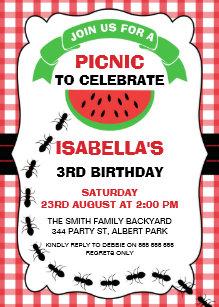 picnic invitations zazzle