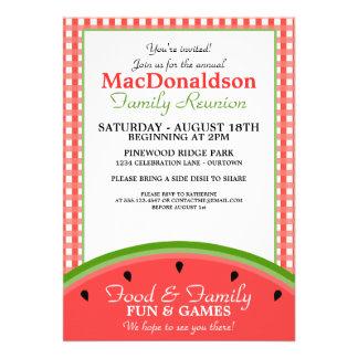 Watermelon Picnic Family Reunion Invitations