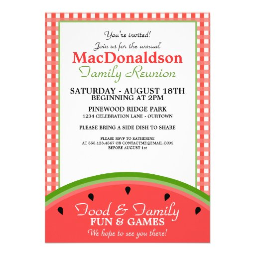 family reunion template party invitation .