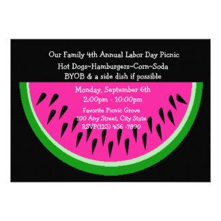 Watermelon Picnic Personalized Invites