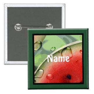 Watermelon Picnic Name Tag Button