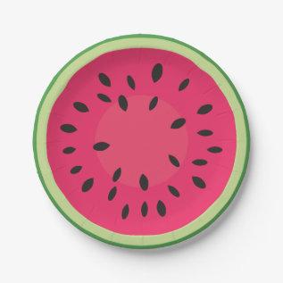 Watermelon Picnic Paper Plate at Zazzle