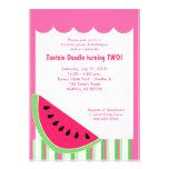 Watermelon Picnic Summer Birthday Party 5x7 Custom Invites