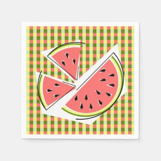 Watermelon Pieces Check napkins paper