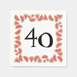 Watermelon Pieces Square Age 40 napkins paper