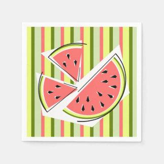 Watermelon Pieces Stripe napkins paper