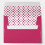 Watermelon Pink Polka Dot A-7 Envelopes