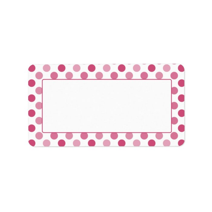 It's just a photo of Gratifying Polka Dot Mailing Labels