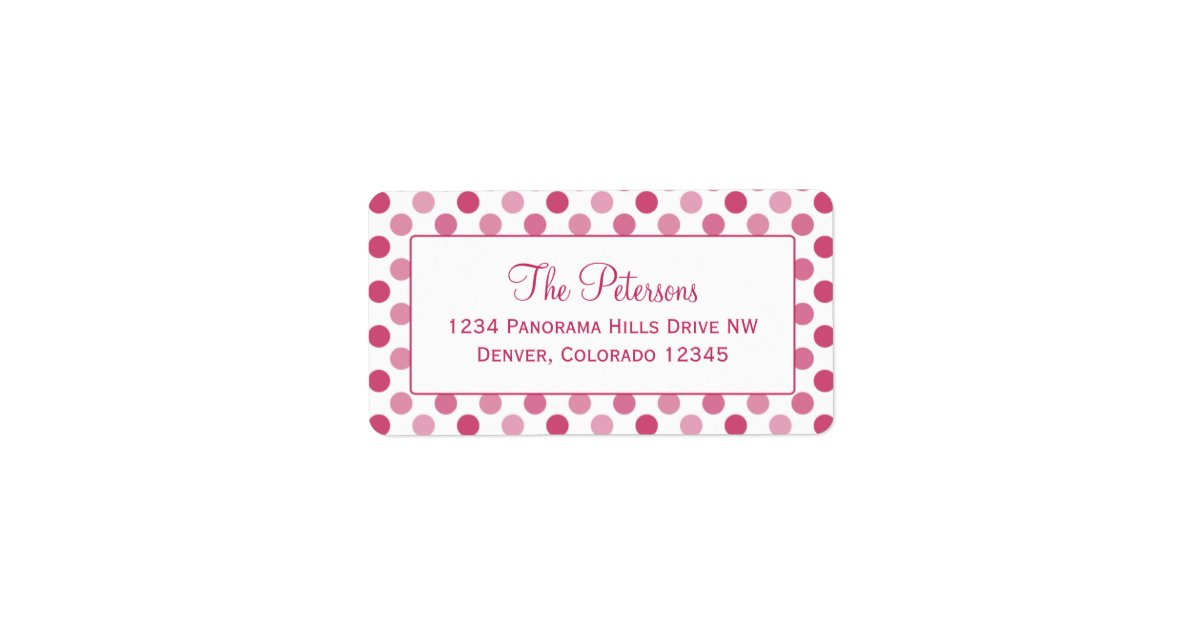This is a picture of Exceptional Polka Dot Mailing Labels