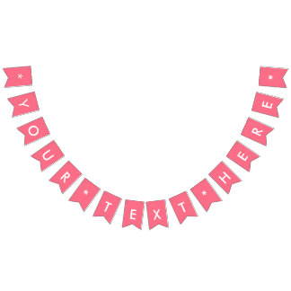 Watermelon Pink Solid Color Bunting Flags