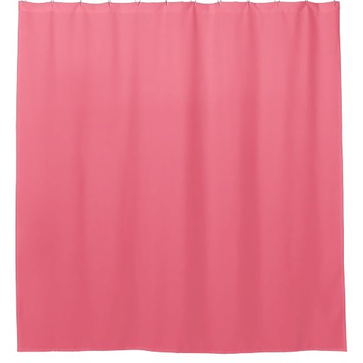 Watermelon pink solid color shower curtain zazzle for Plain pink shower curtain
