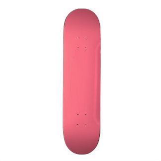 Watermelon Pink Solid Color Skateboard