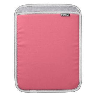 Watermelon Pink Solid Color Sleeve For iPads