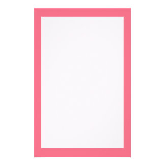 Watermelon Pink Solid Color Stationery