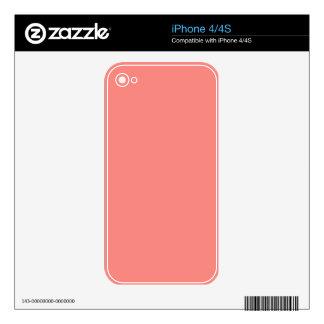 WATERMELON PINK SPLENDOR (solid color background) iPhone 4S Decals