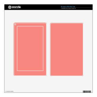 WATERMELON PINK SPLENDOR (solid color background) Kindle Fire Skin