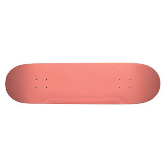 WATERMELON PINK SPLENDOR (solid color background) Skateboard Deck