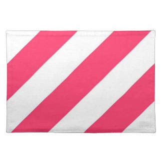 Watermelon Pink Stripes Placemat