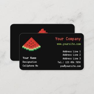 Watermelon Pixel Art Business Card