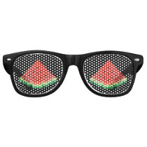 Watermelon Pixel Art Retro Sunglasses