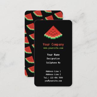 Watermelon Pixel Art Vertical Business Card