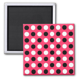Watermelon Polka Dots 2 Inch Square Magnet