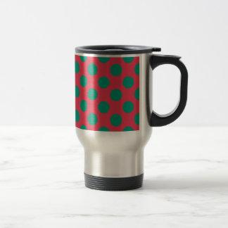 Watermelon Polkadot Travel Mug
