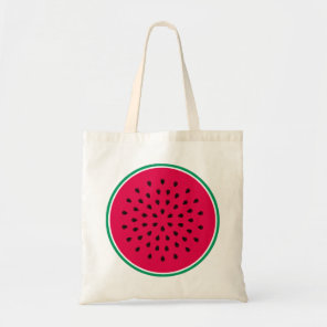 Watermelon pop art tote bag