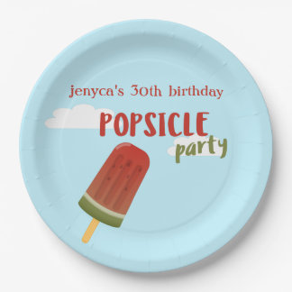Watermelon Popsicle Birthday Party Paper Plates