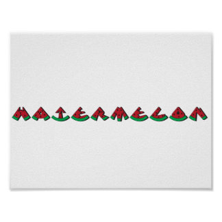 Watermelon Posters | Zazzle