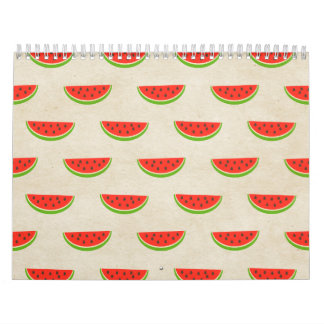 Watermelon Print Rustic Chic Vintage Old Fashioned Wall Calendars