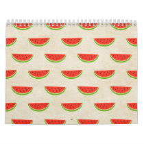 Watermelon Print Rustic Chic Vintage Old Fashioned Calendar